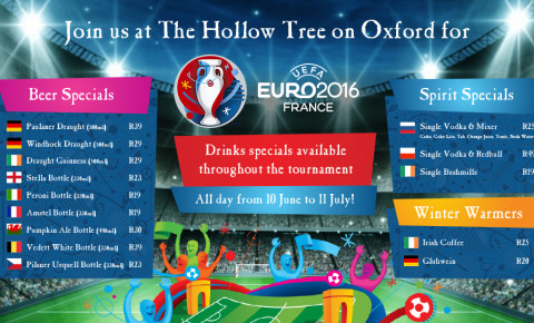 Euro 2016 specials at The Hollow Tree on Oxford