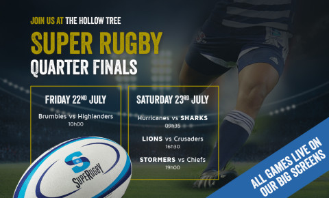 Super Rugby Quarter Finals at the Hollow Tree