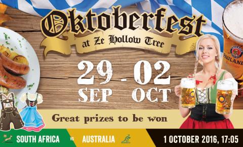 Oktoberfest 29 September – 2 October