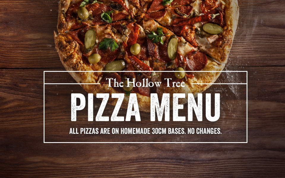 Woodfired Pizzas at The Hollow Tree