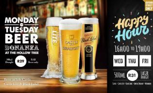 Monday and Tuesday Beer Bonanza